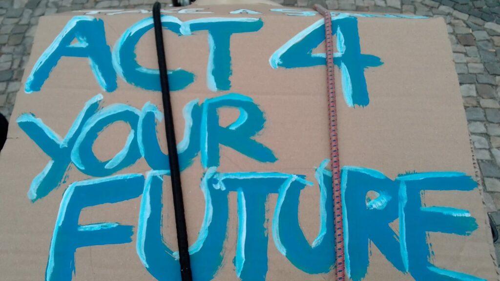 Globaler Klimastreik, Fridays For Future, 24.09.2021, Berlin - Plakat